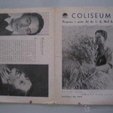 Folhetos de mão de filmes antigos de cinema: ESPIGAS DE ORO TRES LANCEROS BENGALIES FOLLETO DE MANO ORIGINAL DEL ESTRENO CON CINE IMPRESO. Lote 48116020