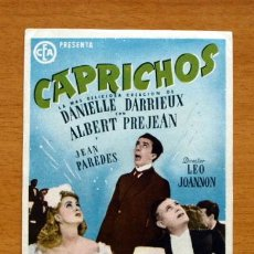 Cine: CAPRICHOS - DANIELLE DARRIEUX, ALBERT PREJEAN . Lote 48150100