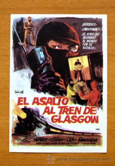 EL ASALTO AL TREN DE GLASGOW - HORST TAPERT, HANS COSSY (Cine - Folletos de Mano - Suspense)