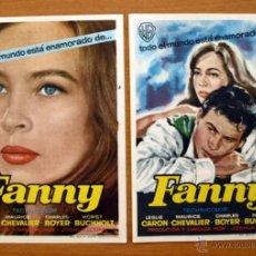 Cine: FANNY - LESLIE CARON, MAURICE CHEVALIER - CON PUBLICIDAD. Lote 48188975