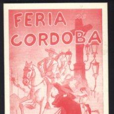 Cine: P-5148- FERIA DE CORDOBA (ROJO) (LITRI Y APARICIO). Lote 22735581