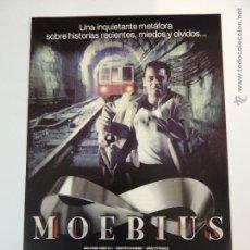 Foglietti di film di film antichi di cinema: MOEBIUS - FOLLETO ORIGINAL MODERNO - 16 X 23 CM - GUILLERMO ANGELELLI ANABELLA LEVY - ARGENTINA. Lote 48195655