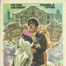 Cine: PETER USTINOV PROGRAMA DE MANO DE LA PELICULA VIVA MAX. Lote 48199452