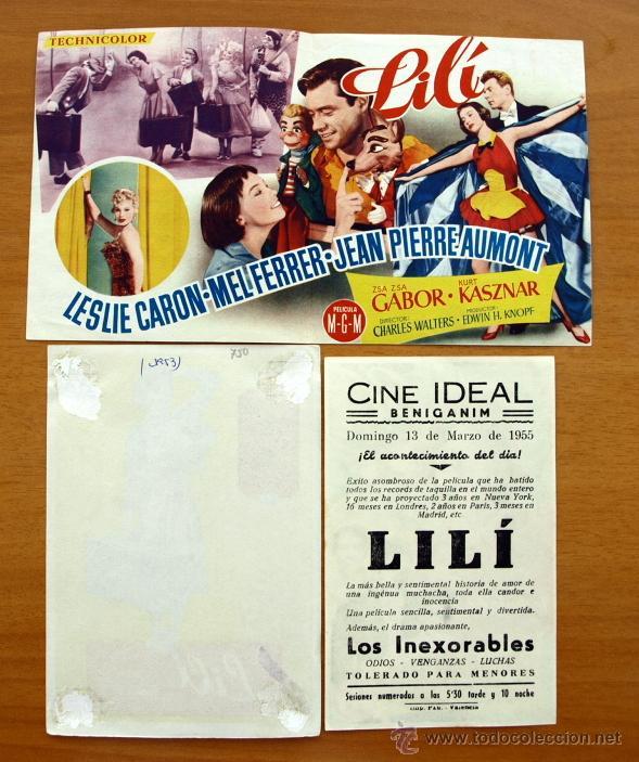 Cine: Lilí - Leslie Caron, Mel Ferrer - Con publicidad - Foto 2 - 48284269