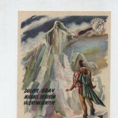 Cine: LA MONTAÑA DE CRISTAL. SENCILLO DE EUROPA FILMS. TEATRO EMPERADOR - LEÓN 1953. ¡IMPECABLE!. Lote 48363161