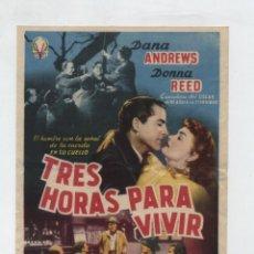 Cine: TRES HORAS PARA VIVIR. SENCILLO DE VICTORY FILMS. . Lote 48368917