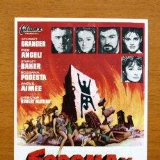 Cine: SODOMA Y GOMORRA - STEWART GRANGER, PIER ANGELI - PUBLICIDAD TEATRO CONCHA SEGURA, YECLA. Lote 11314343