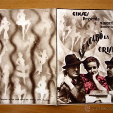 Cine: SE ACABÓ LA CRISIS - ALBERT PREJEAN, DANIELLE DARRIEUX. Lote 2357543