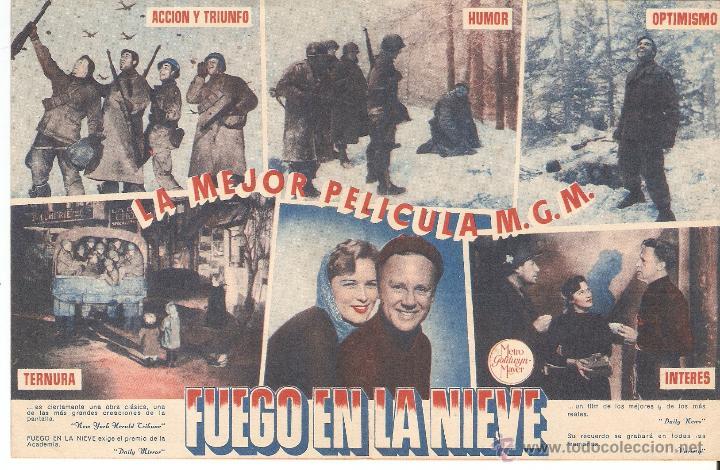 Cine: fuego en la nieve - van johnson, john hodiak, ricardo montalban, george murphy - metro goldwyn mayer - Foto 3 - 48394234
