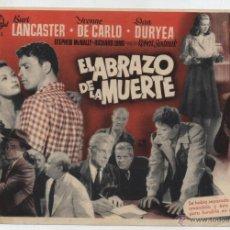 Cinema - El Abrazo de la Muerte. Sencillo grande de Universal. ¡IMPECABLE! - 48403535