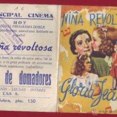 Cine: PROGRAMA DE MANO - NIÑA REVOLTOSA. Lote 48406662