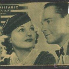 Cine - EL SOLITARIO - HERBERT MARSHALL Y ELIZABETH ALLAN - METRO GOLDWYN MAYER - VER REVERSO - (C-2112) - 48407326