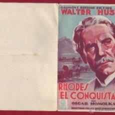 Flyers Publicitaires de films Anciens: PROGRAMA DE MANO - RHODES EL CONQUISTADOR. Lote 48407858