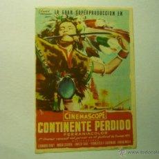 Cine: PROGRAMA CONTINENTE PERDIDO.-PUBLICIDAD CAPITOL -TARRAGONA. Lote 48425014