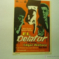 Cine: PROGRAMA EL DELATOR .-KLAUS KINSKI. Lote 48448822