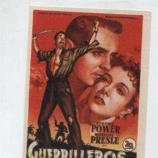 Cine: GUERRILLEROS EN FILIPINAS. SOLIGÓ. SENCILLO DE 20TH CENTURY FOX. TEATRO EMPERADOR - LEÓN 1952.. Lote 48475379