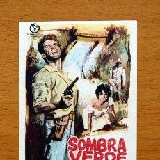 Cine: SOMBRA VERDE - RICARDO MONTALBÁN, ARIADNE WELTER - PUBLICIDAD CINE ALCAZABA, MÉRIDA. Lote 11513160