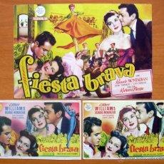 Cine: FIESTA BRAVA - ESTHER WILLIAMS, RICARDO MONTALBAN - CON PUBLICIDAD. Lote 48496949