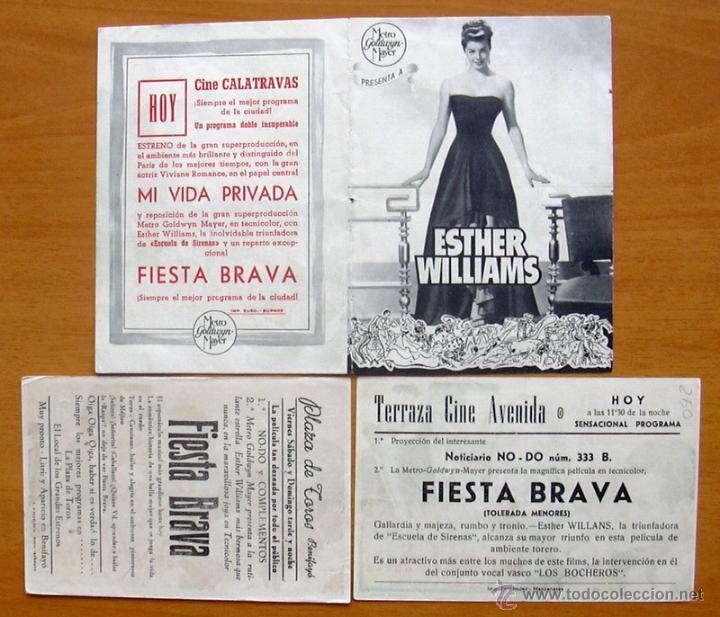 Cine: Fiesta Brava - Esther Williams, Ricardo Montalban - Con publicidad - Foto 2 - 48496949