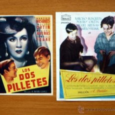 Cine: LOS DOS PILLETES - ARAJOL - NARCISO BUSQUETS, POLITO ORTIN, MIGUEL ARENAS - CON PUBLICIDAD. Lote 48510103