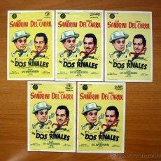 Cine: LOS DOS RIVALES - LUIS SANDRINI, HUGO DEL CARRIL - DIFERENTE DISTRIBUIDORAS - CON PUBLICIDAD. Lote 48510164