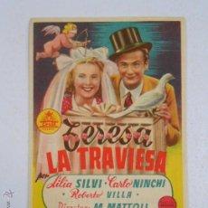 Cine: PROGRAMA FOLLETO MANO DE CINE DE LOGROÑO RIALTO. TERESA LA TRAVIESA. LILIA SILVI. TDKP2. Lote 54943100