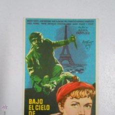 Cine: PROGRAMA FOLLETO MANO DE CINE DE LOGROÑO AVENIDA. BAJO EL CIELO DE PARIS. JULIEN DUVIVIER. TDKP2. Lote 48534588