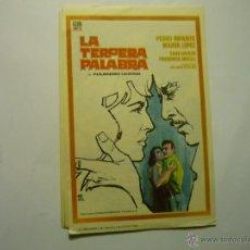 Foglietti di film di film antichi di cinema: PROGRAMA LA TERCERA PALABRA -PEDRO INFANTE. Lote 48545685