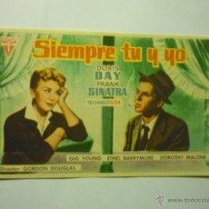 Folhetos de mão de filmes antigos de cinema: PROGRAMA SIEMPRE TU Y YO.-FRANK SINATRA. Lote 48548483