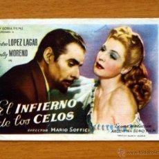 Cine: EL INFIERNO DE LOS CELOS - PEDRO LÓPEZ LAGAR, ZULLY MORENO - CON PUBLICIDAD. Lote 48571632