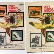 Cine: ESTE PERRO MUNDO, DE BUALTIERO JACOPETTI.. Lote 48600779