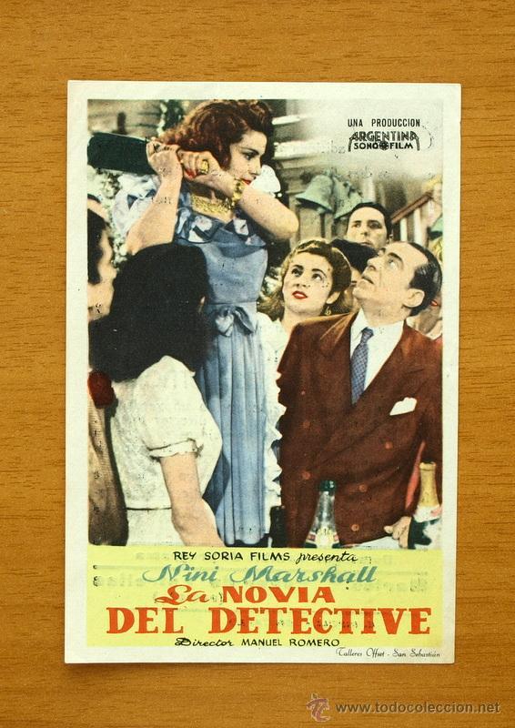 LA NOVIA DEL DETECTIVE - NINI MARSHALL - CON PUBLICIDAD (Cine - Folletos de Mano - Comedia)