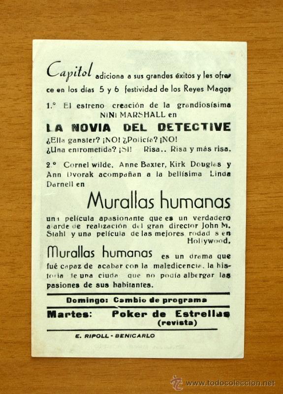 Cine: La novia del detective - Nini Marshall - Con publicidad - Foto 2 - 48603958