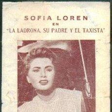 Cine: LA LADRONA, SU PADRE Y EL TAXISTA (CON PUBLICIDAD). Lote 48634850