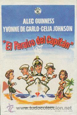 EL PARAÍSO DEL CAPITÁN (CON PUBLICIDAD) (Cine - Folletos de Mano - Comedia)