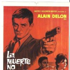 Cine: LA MUERTE NO DESERTA ALAIN DELON LEA MASSARI PROGRAMA PRUEBA DE IMPRENTA DEL CARTEL. Lote 48661292