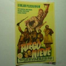 Cine: PROGRAMA FUEGO EN LA NIEVE.- VAN JOHNSON. Lote 48682426