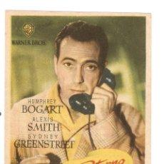 Cine: RETORNO AL ABISMO - HUMPHREY BOGART, ALEXIS SMITH, SYDNEY GREENSTREET - DIRECTOR CURTIS BERNHARDT. Lote 48741159
