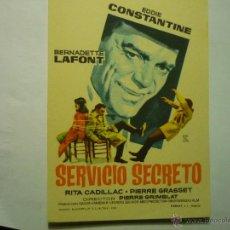 Folhetos de mão de filmes antigos de cinema: PROGRAMA SERVICIO SECRETO - EDDIE CONSTANTINE--SELLO CINE. Lote 48826126