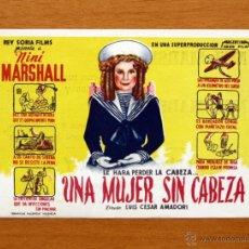 Cine: UNA MUJER SIN CABEZA - NINÍ MARSHALL - CON PUBLICIDAD. Lote 48864836