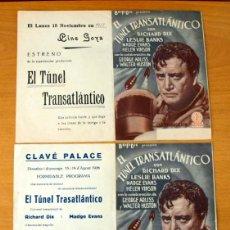 Cine: EL TUNEL TRANSATLÁNTICO - RICHARD DIX, LESLIE BANKS - CON PUBLICIDAD. Lote 48918404