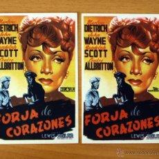 Cine: FORJA DE CORAZONES - MARLENE DIETRICH, RANDOLPH SCOTT, JOHN WAYNE - DISTINTA DISTRIBUIDORA. Lote 48918666