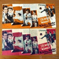 Cine: LA NOVIA QUE VUELVE - CLAUDETTE COLBERT, FRED MC. MURRAY - CON PUBLICIDAD. Lote 48919539
