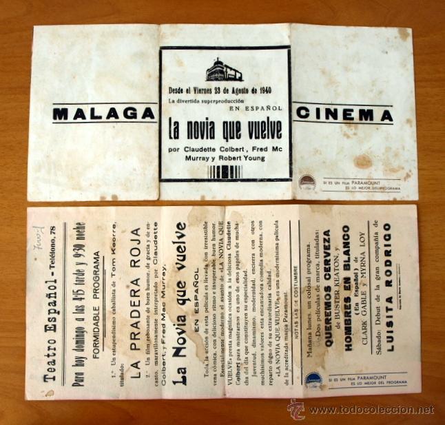 Cine: La novia que vuelve - Claudette Colbert, Fred Mc. Murray - Con publicidad - Foto 2 - 48919539