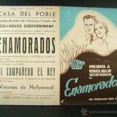Cine: ENAMORADOS-RARISIMA PUBLICIDAD CATALAN-ERICH WASCHNECK-RENATA MULLER-CASA POBLE-CINE-FERXAMA-AÑOS 30. Lote 48921472