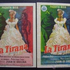 Cine: LA TIRANA, PAQUITA RICO, VARIANTE, CINEMA TARREGA DE VILLARREAL. Lote 48940072