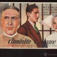 Cine: FOLLETO ORIGINAL- CAMINITO ALEGRE - AÑO 1944 -VER FOTOS QUE NO TE FALTE EN TU COLECCION. Lote 48942997