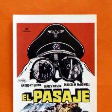 Cine: FOLLETO DE MANO MODERNO - EL PASAJE - ANTHONY QUINN, JAMES MASON - GRAFICAS MARFIL - . Lote 48952600