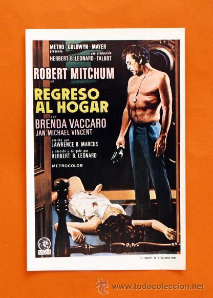 FOLLETO DE MANO MODERNO - REGRESO AL HOGAR - ROBERT MITCHUM - GRAFICAS MARFIL - (Cine - Folletos de Mano - Acción)