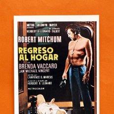 Cine: FOLLETO DE MANO MODERNO - REGRESO AL HOGAR - ROBERT MITCHUM - GRAFICAS MARFIL - . Lote 48952910